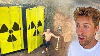 Built Underground Quarantine Survival Bunker!
