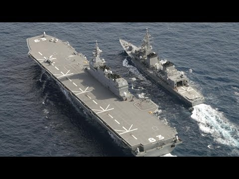 view(前編)「緊張の海」訓練へ向かう 海自護衛艦「いずも」同乗記