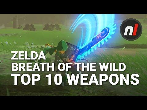 Top Ten Weapons in The Legend of Zelda: Breath of the Wild w/ Arekkz
