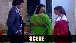 Emotional Scene Between Chiranjeevi, Radhika & Sudha - Guda Chari No 1 Movie Scenes - Rao Gopal Rao