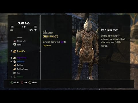 ESO Refining Over 1500 Raw Materials