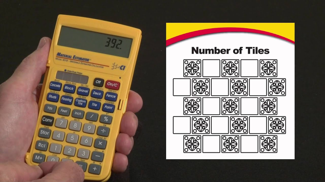Material Estimator Tile Calculations How To - YouTube