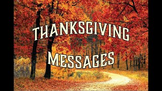 Thanksgiving Holiday Messages 2020