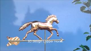 3d Copper Horse Weathervane