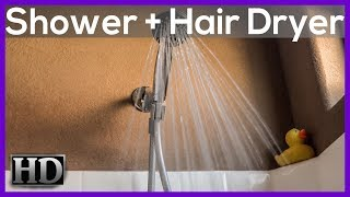 ►10 hours of SHOWER sounds with HAIR DRYER! White noise ASMR. Baby sleep trick