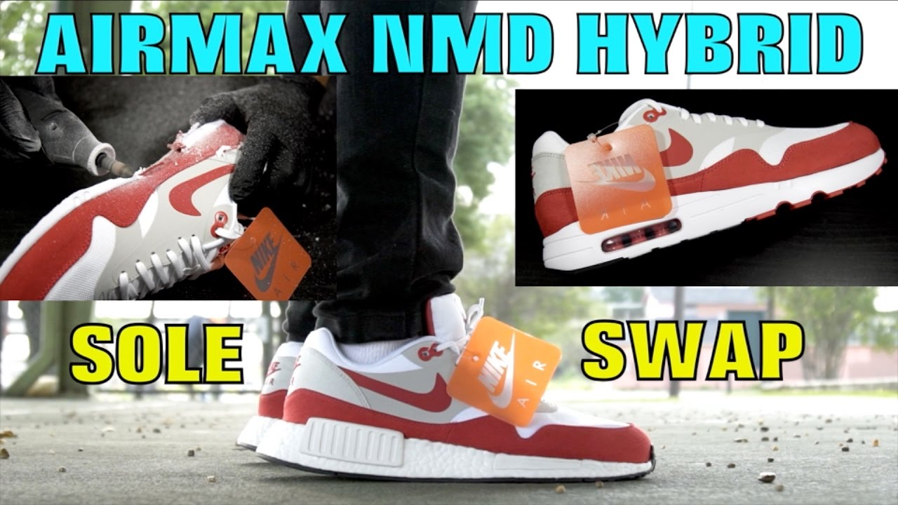 newest collection bf7ce e386c AIRMAX NMD HYBRID SOLESWAP! (AIRMAX DAY SPECIAL)