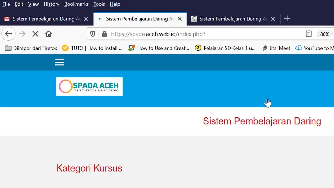 Sistem Pembelajaran Daring Aceh