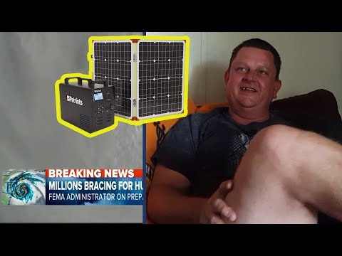 Patriot Power Generator  – Hurricane Victim Uses Solar Generator to Keep Power On