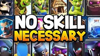 """Ranking TOP 8 """"LOW SKILL"""" Cards In Clash Royale 2019"""