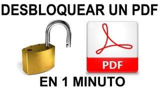 Como Desbloquear un PDF en 1 minuto (ONLINE)