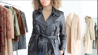 HOW TO STYLE COATS + LOOK BADASS | FARFETCH, TOPSHOP, VINTAGE + MORE!