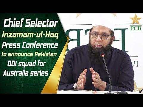 Chief Selector Inzamam-ul-Haq Press Conference to announce Pakistan ODI squad for Australia series Mp3