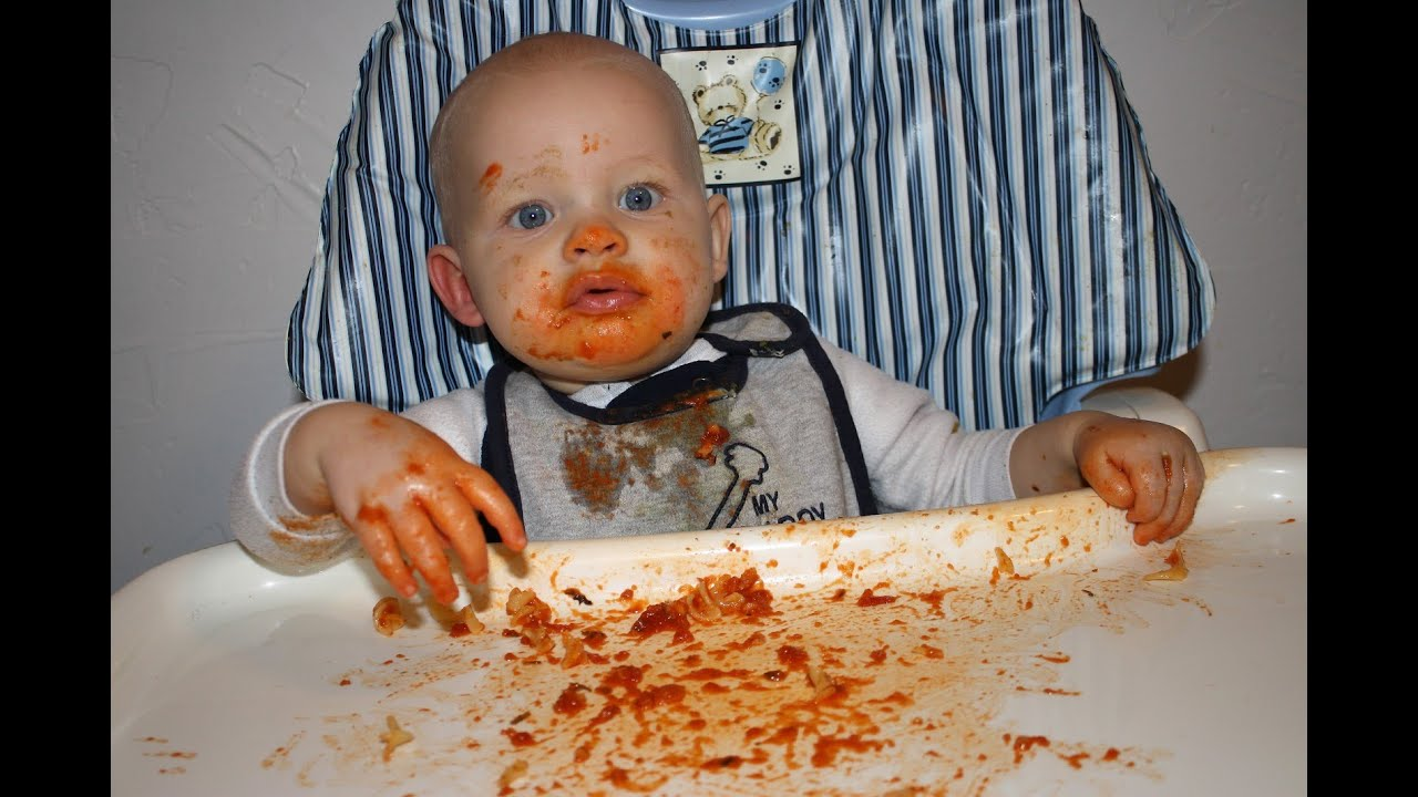 Funny Babies Eating Spaghetti Compilation