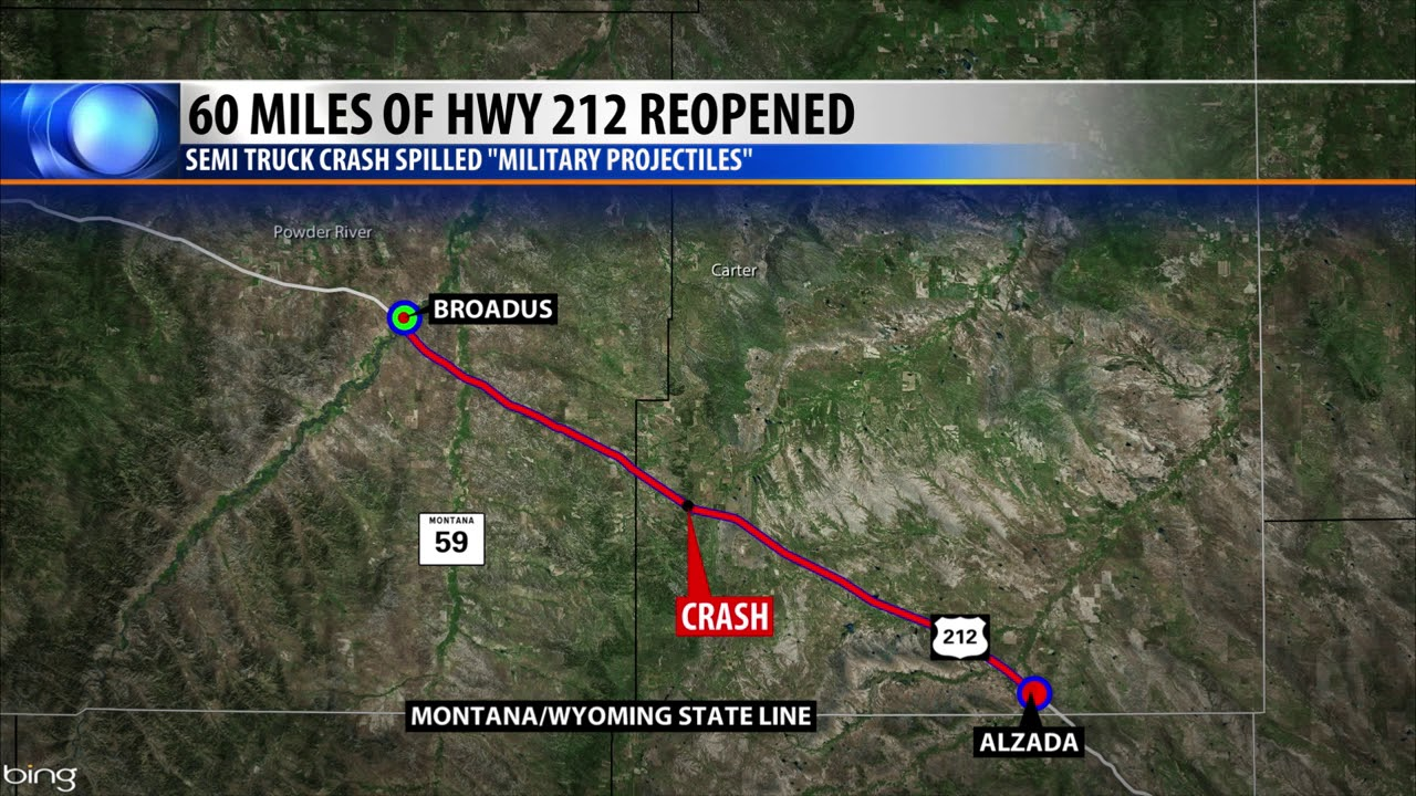 Update: Highway 212 in southeastern Montana reopens after