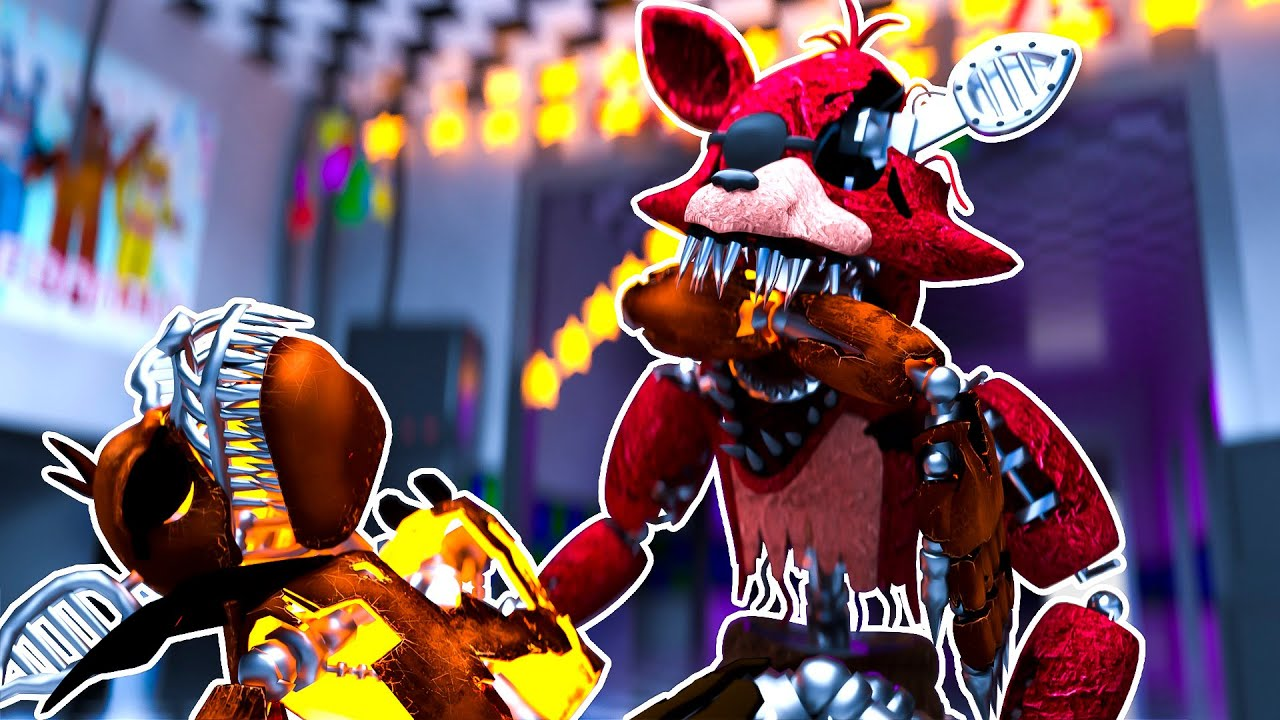 Sinister Foxy EATS Grim Foxy | Minecraft Five Nights at Freddy's Roleplay