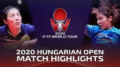 Han Ying vs Miu Hirano | 2020 ITTF Hungarian Open Highlights (1/4)