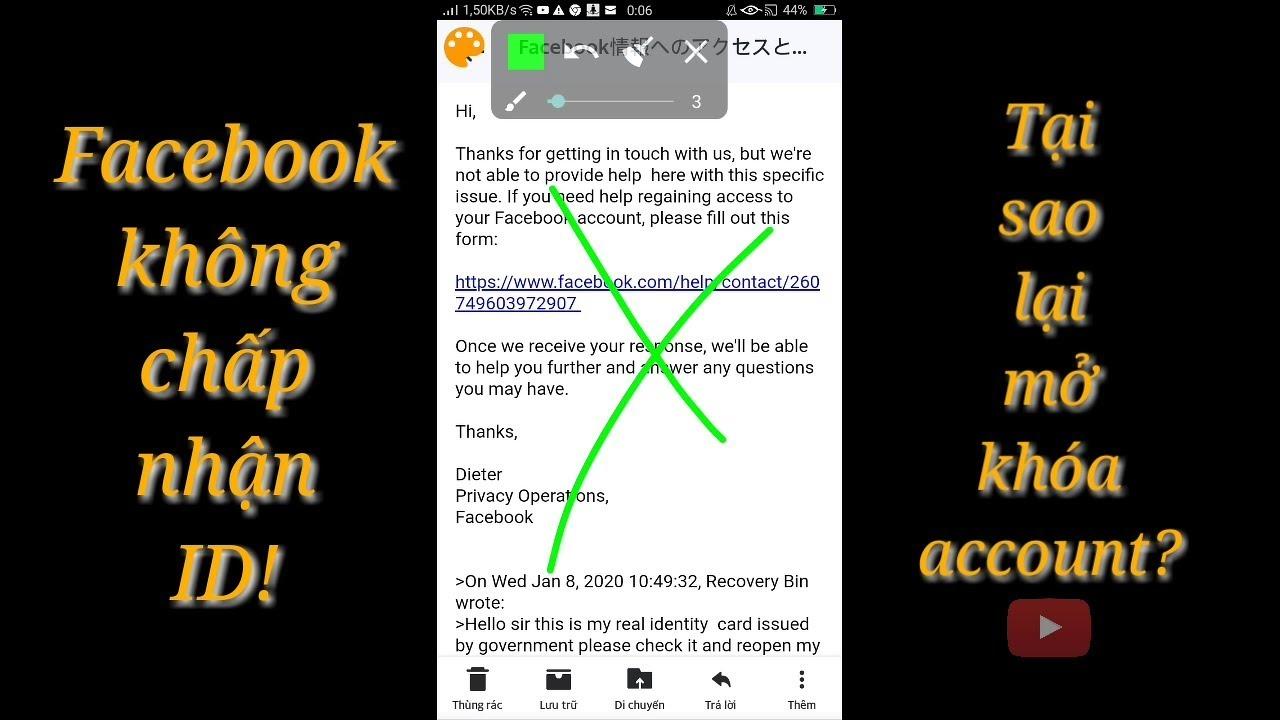 Facebook không chấp nhận id card vì sao lại mở | Minh kiệt tg