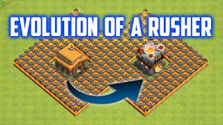 Clash of Clans: Evolution of a Rusher | True Tale of Clash Achievery | Rush to TH11