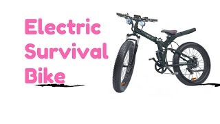The Ultimate Electric Survival Mountain Bike is the MOAR Fat Tire EBike
