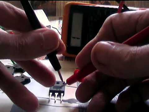 Два способа проверки полевого транзистора.