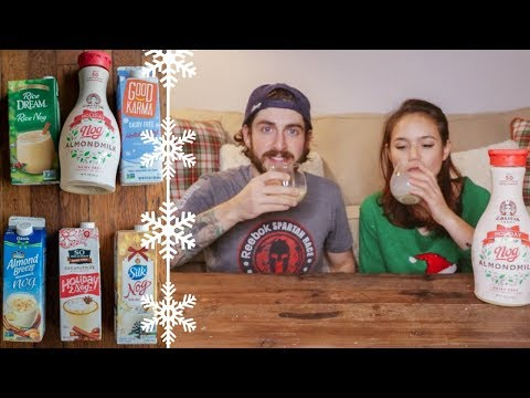 Trying Vegan Egg Nog // Holiday Nog Taste Test