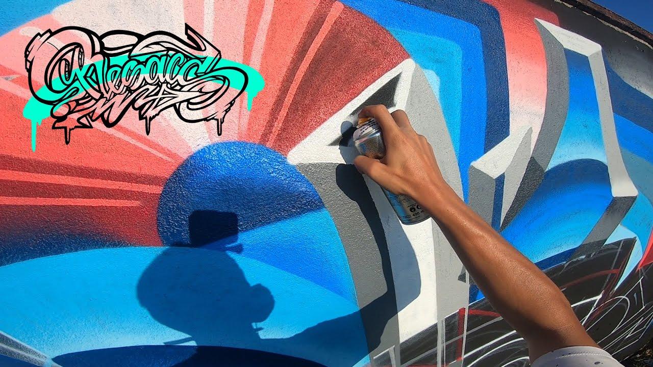 RESAKS - ⚽ Big 3D Graffiti Letters in a Football Stadium ⚽