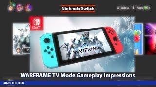 Nintendo Switch Warframe TV Mode Gameplay Impressions
