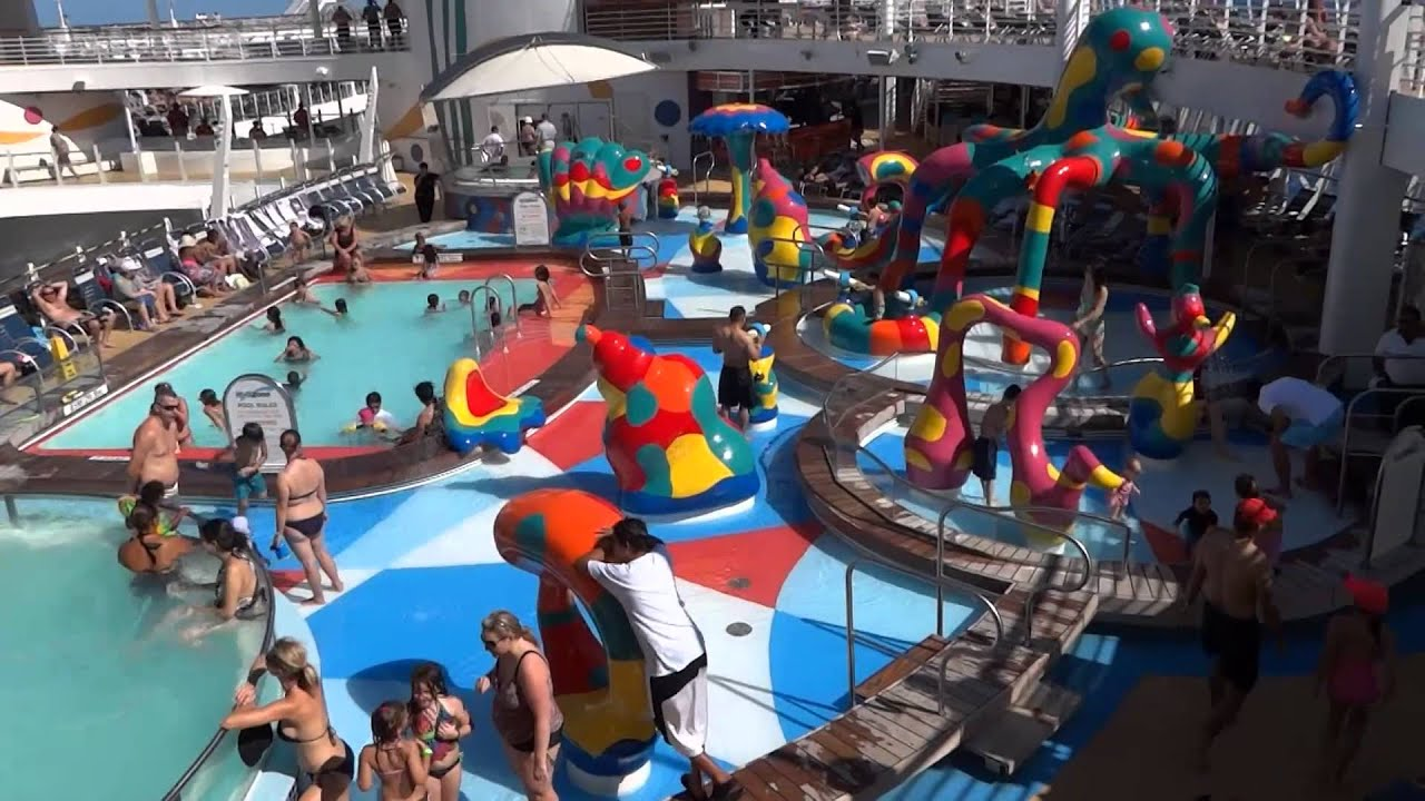 Kids Pools On The Royal Caribbean Allure Of The Seas