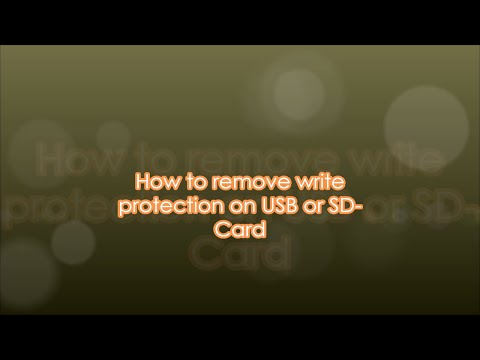 How to remove write copy protection (or) Copyright protection on USB or SD-Card ..