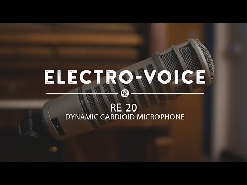 Electro-Voice RE-20 Dynamic Carioid Microphone   Reverb Demo Video