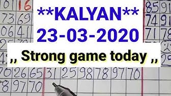 Kalyan matka **23-03-2020** Strong jodi game today // Kalyan satta matka bazaar