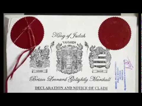 Proclamation to the fake Queen Elizabeth