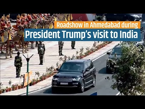 PM Modi and President Trump's Roadshow to Motera stadium in Ahmedabad, Gujarat