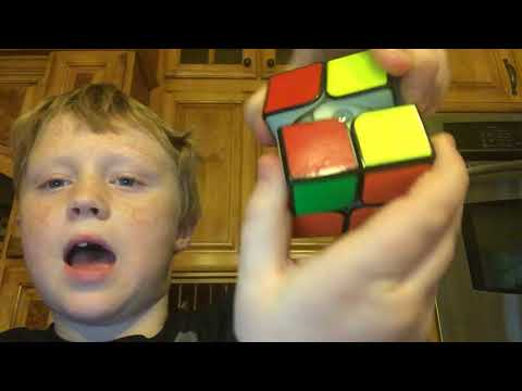 Kid hacks 2x2 Rubik's cube