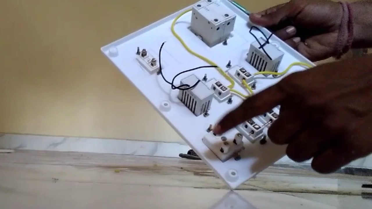 Board Wiring Connection For House In Hindi Youtube Home Books