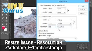 How to Change Image Size and Resolution in Adobe Photoshop - CS5 CS6 CC Tutorial