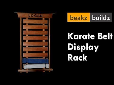 Japanese Inspired Karate Belt Display Rack