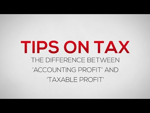 The difference between Accounting Profit and Taxable Profit