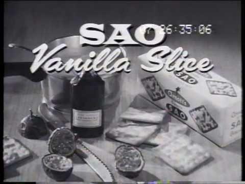 Arnott's Sao Biscuits 'vanilla slice' 1962 TV commercial