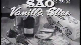 Arnott's Sao Biscuits 'vanilla Slice' 1962 Tv Commercial
