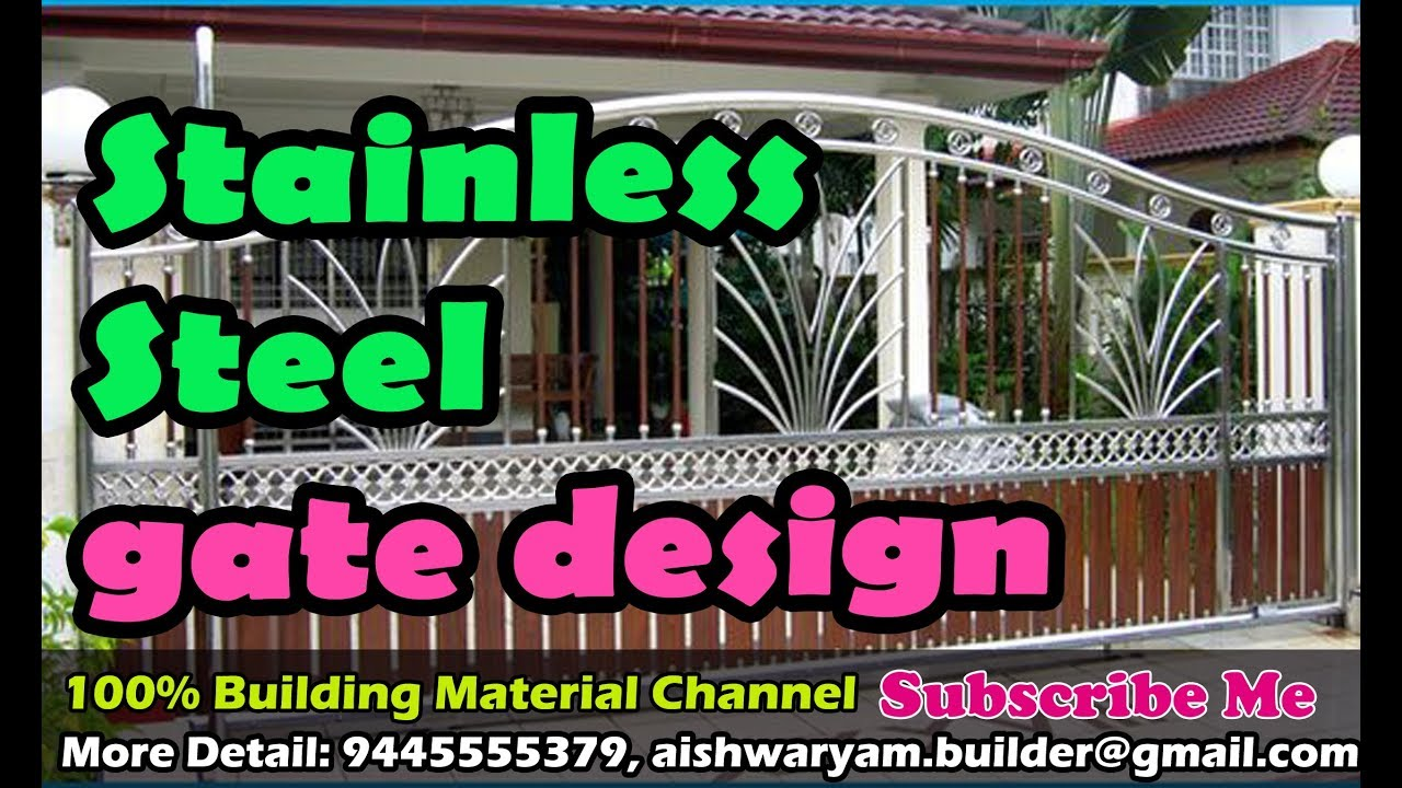 stainless steel grill gate design youtube