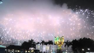 1ST OCTOBER 2015 FIREWORKS NATIONAL DAY HONG KONG