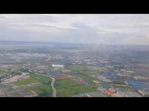 Airbus A319 Qatar Airways Landing at Yangon Myanmar