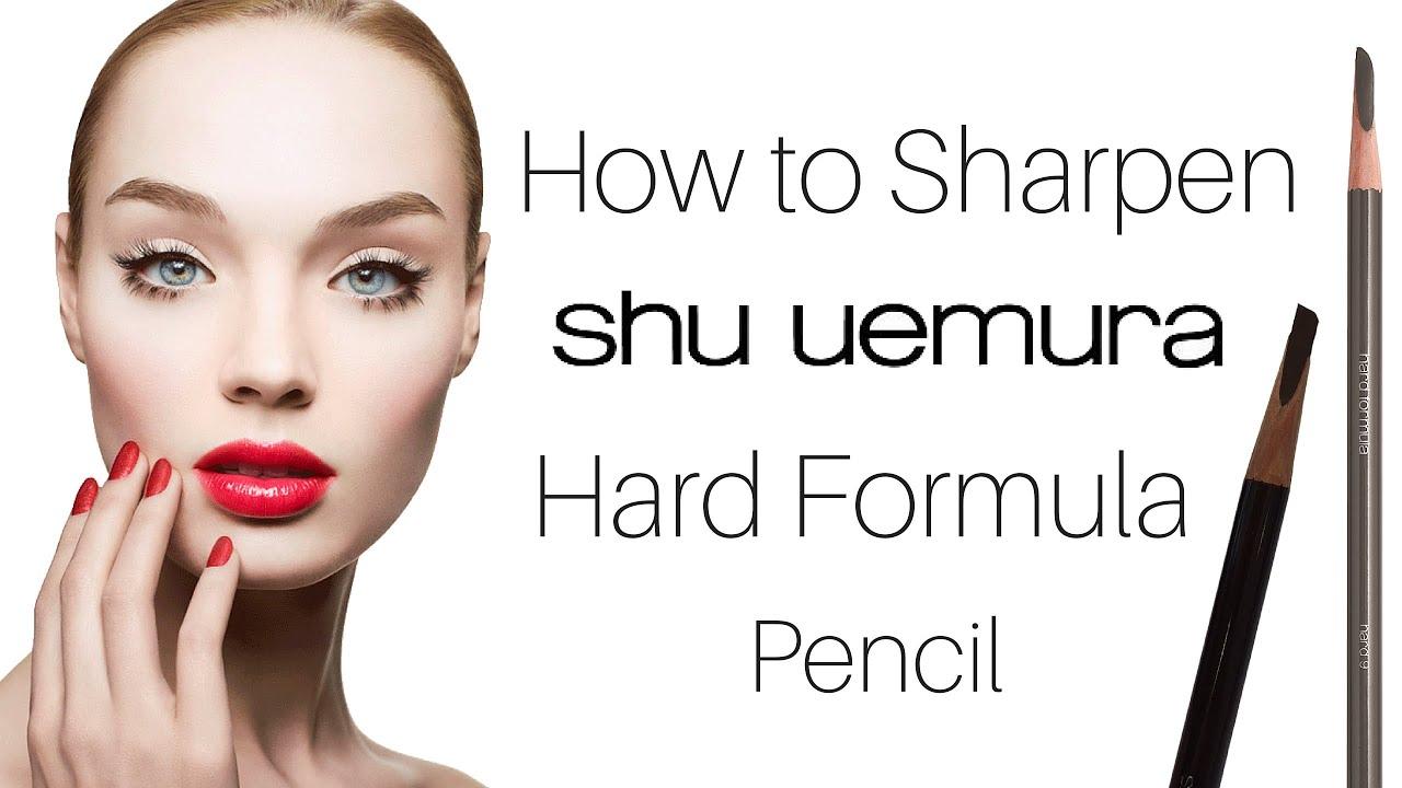 How To Professionally Sharpen Shu Uemura Hard Formula Eyebrow Pencil