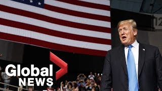 Donald Trump holds MAGA rally in North Carolina
