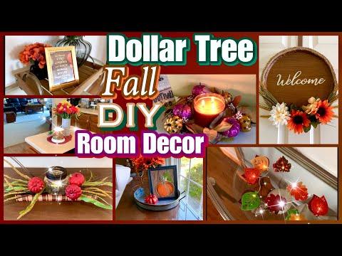 FALL ROOM DECOR | Dollar Tree DIYS!