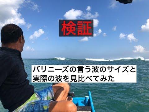 検証 バリニーズの言う波のサイズと実際の波を見比べてみた