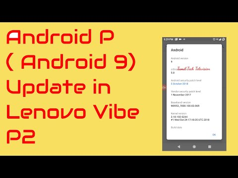 Android pie android 9 update to lrnovo vibe p2 through Crdroid 5 0