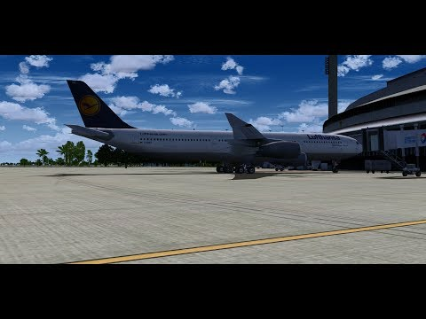 SORRY for black screens! It was an OBS software errors. FS9 A340-300 Rio to Frankfurt | START