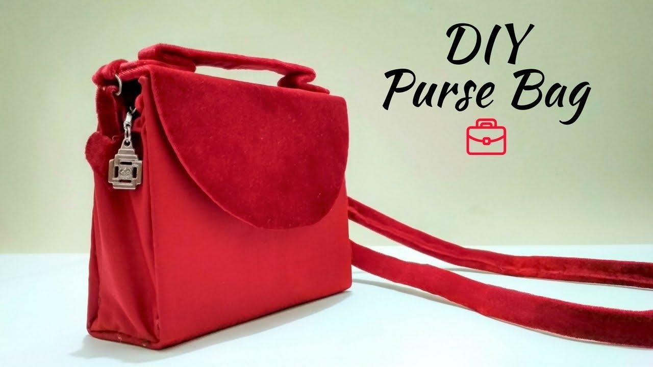 how to make a no sew clutch purse